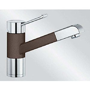Blanco Zenos-s Küchenarmatur 517827 ausziehbar, SILGRANIT-Look cafe/chrom