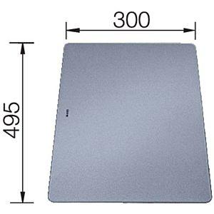 Blanco Schneidbrett 226191 49,5x30cm, Sicherheitsglas silber