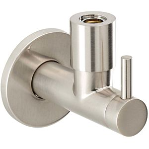 "Herzbach Design iX valve d'angle 17954780109 2000 / 2 "", Inox brossé"