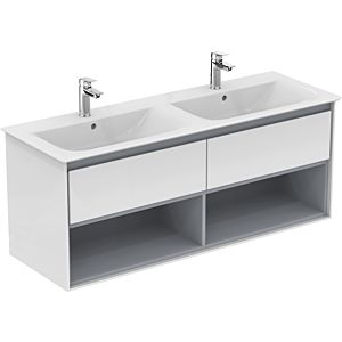 Ideal Standard Connect Air Waschtischunterschrank E0831PS, Eiche grau Dekor/weiss matt, 2 Auszüge