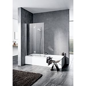 Kermi Liga Badewannen-Faltwand LI2PR10015VPK 100x150cm, silber hochglanz, ESG klar Clean, rechts