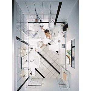 Kermi Vario 2000 Faltwand 2-/1-flügelig V2TS2075142PK 74-76,3x140cm, weiß, ESG klar KermiClean