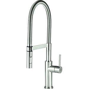 Villeroy & Boch Küchenarmatur 926500LC 6,5 l/min, Umstellung Strahl/Brause, Edelstahl massiv