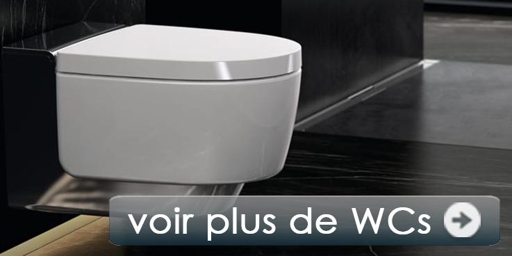 Toilettes de marque dans de nombreux modèles.