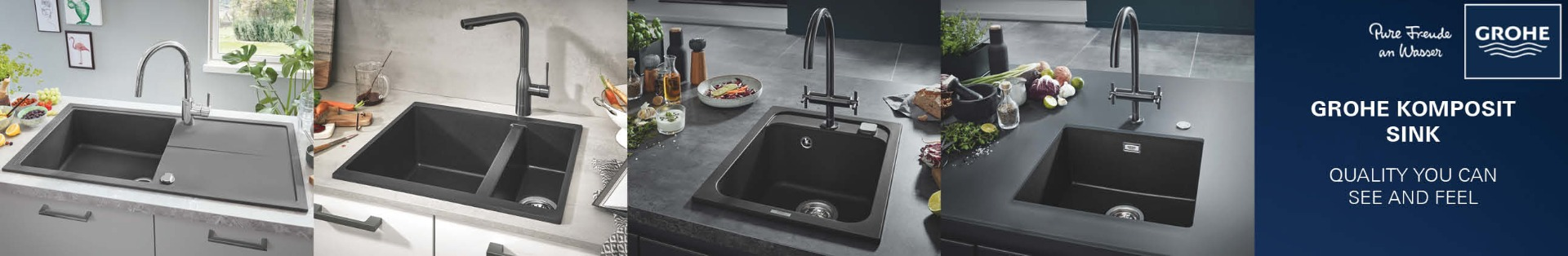 GROHE kitchen sinks with mixer tap