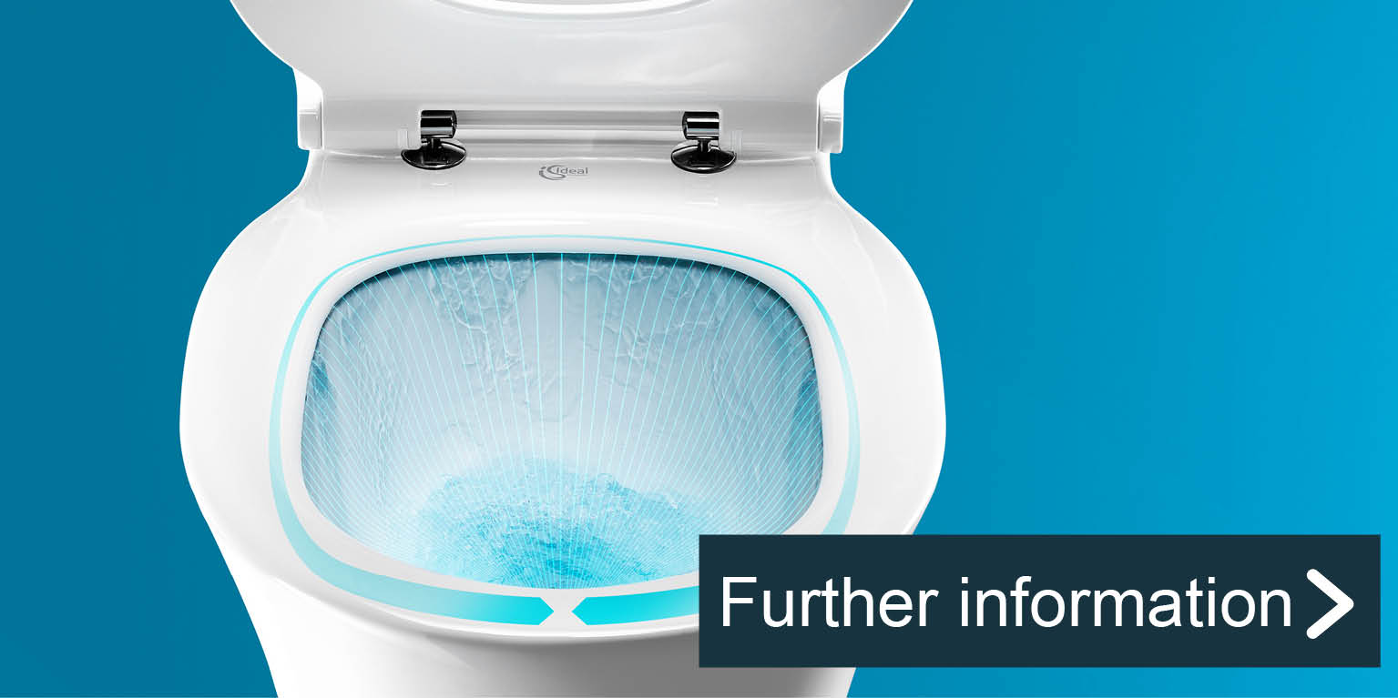 AquaBlade: New hygiene standard for rimless toilets.