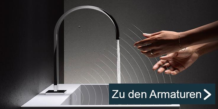 Berührungslose Infrarot-Armaturen für mehr Hygiene.