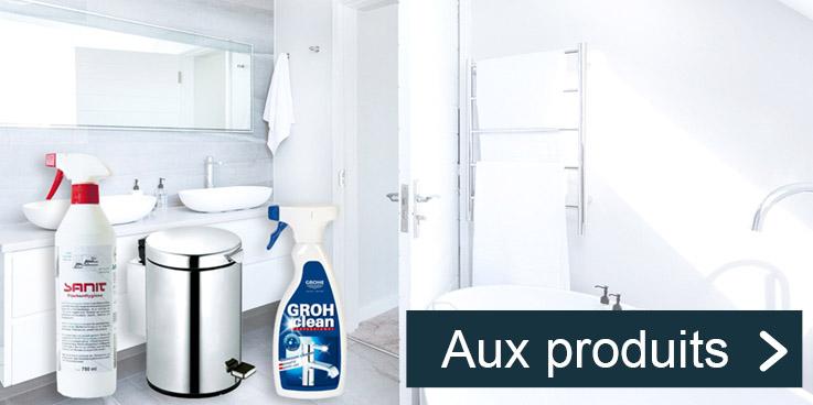 Produits de désinfection et de nettoyage pour plus d'hygiène.